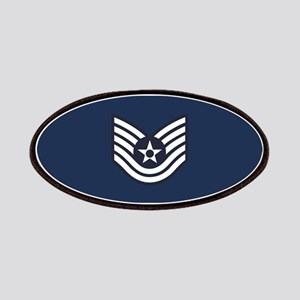 USAF: TSgt E-6 (Blue) Patch