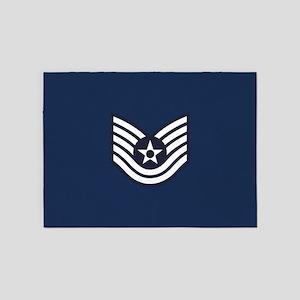 USAF: TSgt E-6 (Blue) 5'x7'Area Rug