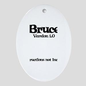 Bruce - Version 1.0 Oval Ornament