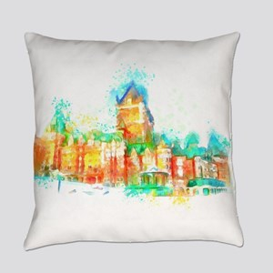 Chateau Frontenac Quebec City Everyday Pillow