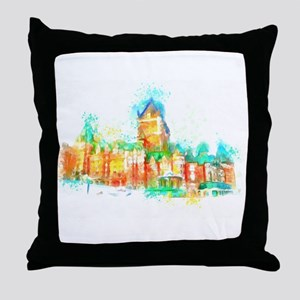Chateau Frontenac Quebec City Throw Pillow