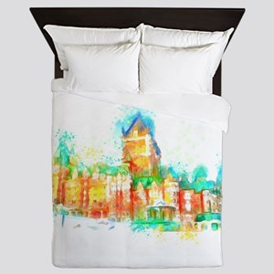 Chateau Frontenac Quebec City Queen Duvet