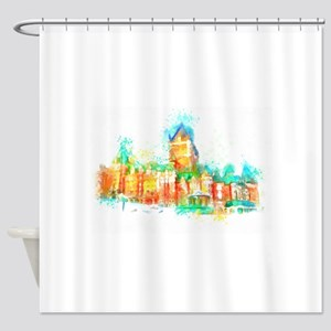Chateau Frontenac Quebec City Shower Curtain