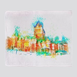 Chateau Frontenac Quebec City Throw Blanket