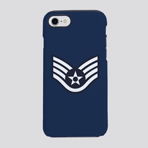 USAF: SSgt E-5 (Blue) iPhone 8/7 Tough Case