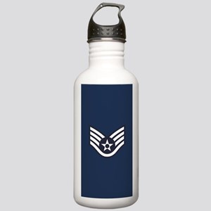 USAF: SSgt E-5 (Blue) Stainless Water Bottle 1.0L