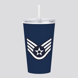 USAF: SSgt E-5 (Blue) Acrylic Double-wall Tumbler