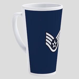 USAF: SSgt E-5 (Blue) 17 oz Latte Mug