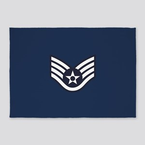 USAF: SSgt E-5 (Blue) 5'x7'Area Rug
