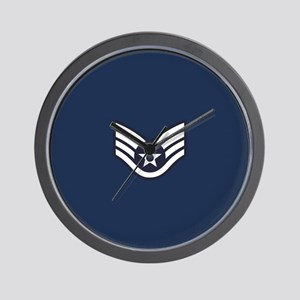 USAF: SSgt E-5 (Blue) Wall Clock