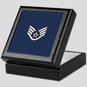 USAF: SSgt E-5 (Blue) Keepsake Box