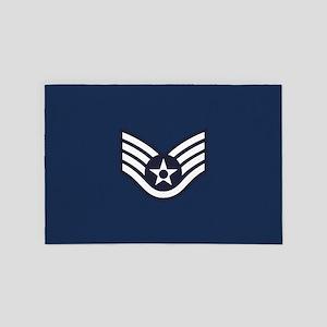 USAF: SSgt E-5 (Blue) 4' x 6' Rug