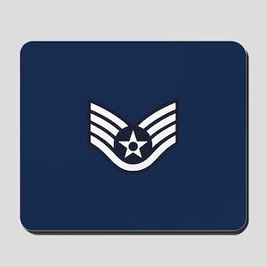 USAF: SSgt E-5 (Blue) Mousepad
