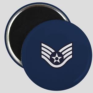 USAF: SSgt E-5 (Blue) Magnet