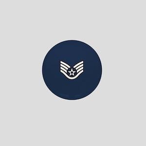 USAF: SSgt E-5 (Blue) Mini Button