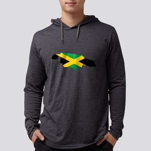 Jamaica Flag map Long Sleeve T-Shirt