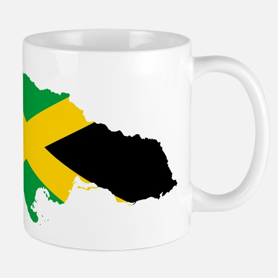 Jamaica Flag map Mugs
