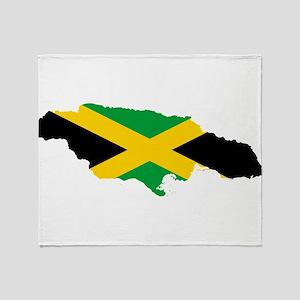 Jamaica Flag map Throw Blanket