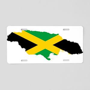 Jamaica Flag map Aluminum License Plate