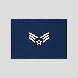 USAF: SrA E-4 (Blue) 5'x7'Area Rug