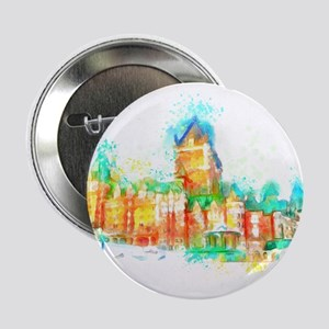 "Chateau Frontenac Quebec City 2.25"" Button (10 pac"