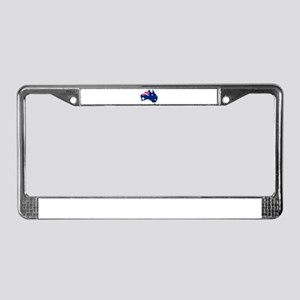 Australia Flag Map License Plate Frame