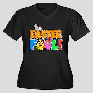 Easter Fool! Women's Plus Size V-Neck Dark T-Shirt