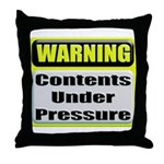 Contents Under Pressure Throw Pillow