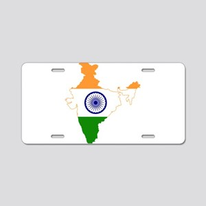 Indian Flag Map Aluminum License Plate