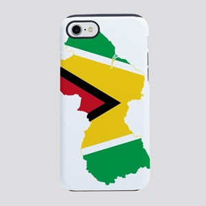 Guyana Flag Map iPhone 8/7 Tough Case