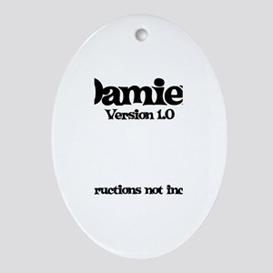Damien - Version 1.0 Oval Ornament