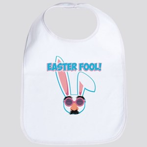 Easter Fool Bunny with Groucho Gla Cotton Baby Bib