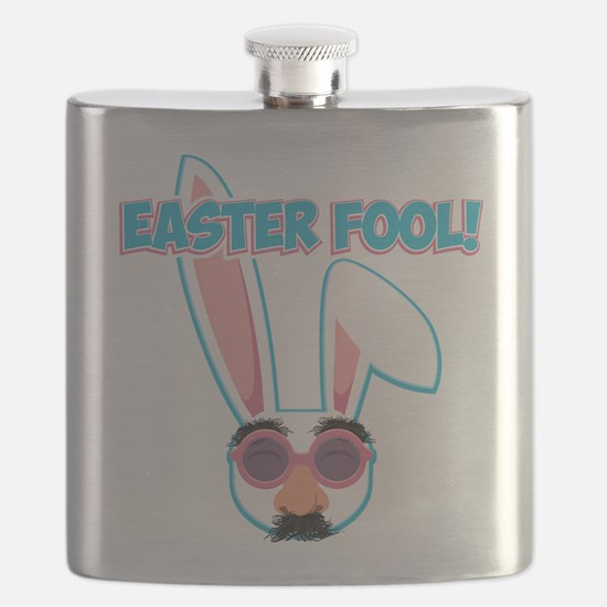 Easter Fool Bunny with Groucho Glasses Flask