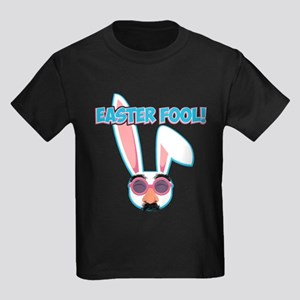 Easter Fool Bunny with Groucho G Kids Dark T-Shirt
