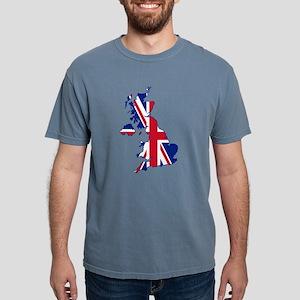 United Kingdom Flag Map T-Shirt