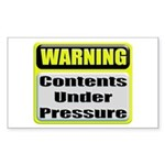 Contents Under Pressure Rectangular Sticker