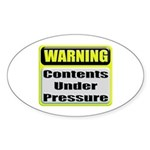 Contents Under Pressure Oval Sticker