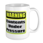 Contents Under Pressure Large Coffee Mug