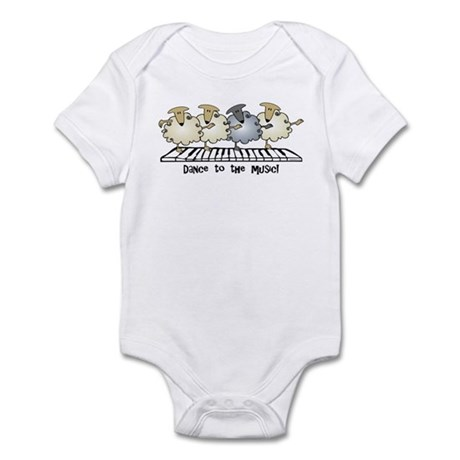 Sheep Chorus Line Infant Bodysuit