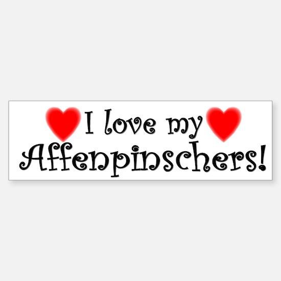 I Love My Affenpinschers Bumper Bumper Bumper Sticker