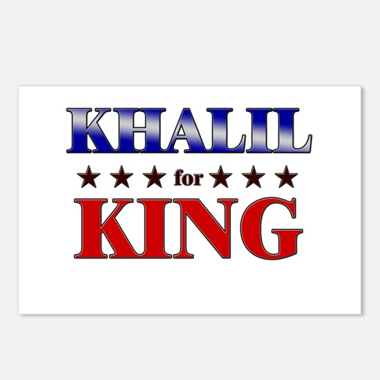 KHALIL for king Postcards (Package of 8)