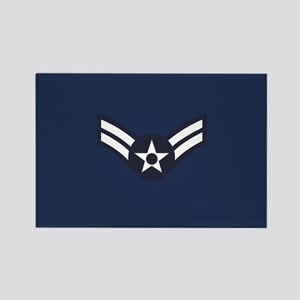 USAF: A1C E-3 (Blue) Rectangle Magnet