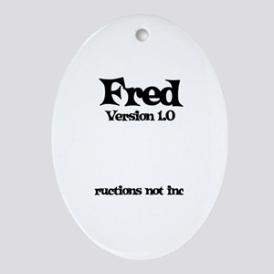 Fred - Version 1.0 Oval Ornament