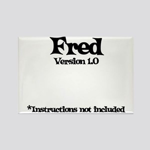 Fred - Version 1.0 Rectangle Magnet