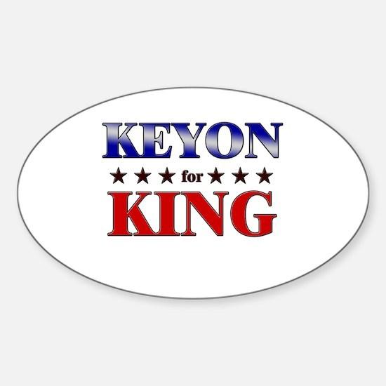 KEYON for king Oval Decal