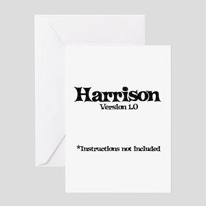 Harrison - Version 1.0 Greeting Card