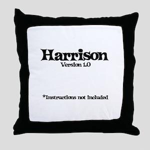 Harrison - Version 1.0 Throw Pillow