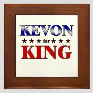 KEVON for king Framed Tile