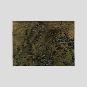 Vintage Gettysburg Pennsylvania Par 5'x7'Area Rug
