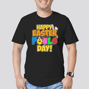 Happy Easter Fools' Da Men's Fitted T-Shirt (dark)